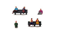 Hornby R7119 Sitting People 1:76 Model Railway Lineside Accessories