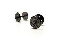 Hornby R8234 14.1mm Diameter Metal 4 Disc Hole Wheel/Axle Set Qty 10 Model Railway Spares