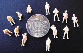 OzMods Scale Models USAAF standing, 2 figures per pack Accessories 1:144