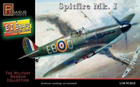 Pegasus Hobbies No. 8410 Spitfire Mk.I E-Z Snapz / The Military Museum Collection 1:48 Scale