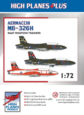 High Planes Plus Aermacchi MB-326H RAAF Weapons Trainers Detail Set 1:72 (HPL072006)