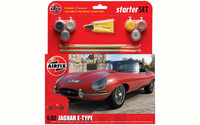Airfix A55200 Jaguar E-type Medium Starter Set 1:32 Scale Model Kit