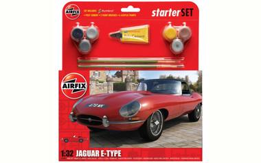 Airfix A55200 Jaguar E-type Medium Starter Set 1:32 Scale Model Kit