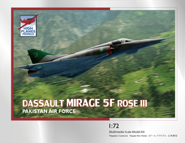 High Planes HPK072114 Dassault Mirage 5F ROSE III Scale Model Kit 1:72