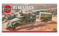 Airfix A02318V Airfix Vintage Classics - M3 Half Track & 1 Ton Trailer 1:76 Model Kit