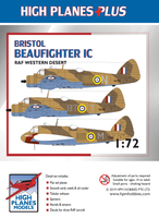 "High Planes Plus HPL072003 Bristol Beaufighter IC ""RAF Western Desert"" Detail Set Accessories 1:72"