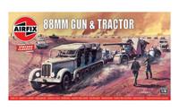 Airfix A02303V Airfix Vintage Classics - 88mm Gun & Tractor 1:76 Scale