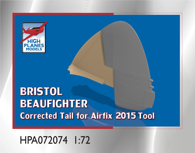 High Planes Bristol Beaufighter tail correction (for Airfix 2015) (Accessories 1:72) (HPA072074)