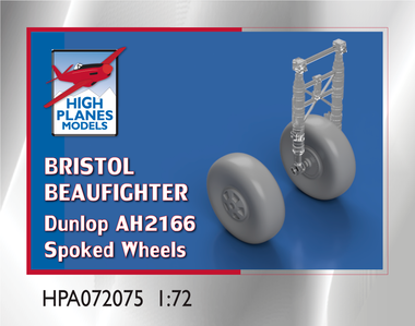 High Planes Bristol Beaufighter Dunlop AH2166 Spoked Wheels (Accessories 1:72) ( HPA072075)