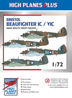 "High Planes Plus HPL072004 Bristol Beaufighter IC / VIC ""RAAF South West Pacific"" Detail Set Accessories 1:72"