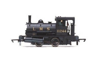 Hornby R3727 LMS, Class 21 'Pug', 0-4-0ST, 11244 - Era 3, 00 Gauge Scale