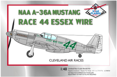 """High Planes North American A-36 Race 44 """"Essex Wire Corp"""" 1947 Cleveland Racer 1:72"""