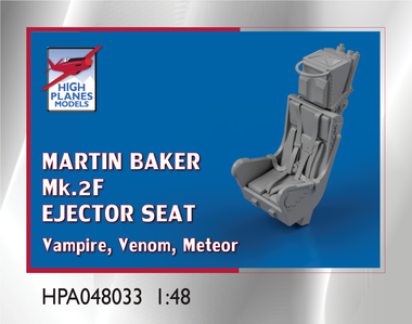 High Planes Martin Baker Mk 2F Ejector Seat suitable for Vampire, Venom, Meteor Accessories 1:48 (HPA048033)