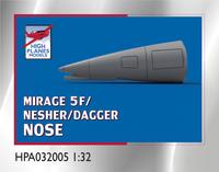High Planes Dassault Mirage 5F/Nesher/Dagger Nose for Italeri Accessories 1:32 (HPA032005)