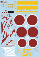 FCM KI-84 Hayate (five versions) Decals 1:32 Scale (FCD032025)