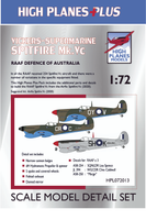 High Planes Plus VS Spitfire Mk.Vc RAAF Defence of Australia Detail Set Accessories 1:72
