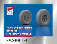 High Planes V-S Spitfire Five Spoke Wheels 1:48 Accessories (HPA048038)