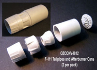 OzMods Scale Models F-111 Tailpipes and Afterburner Cans 2 per pack Accessories 1:48