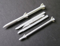 OzMods Scale Models AMRAAM + Sidewinder 9X + launch rail 1 set Accessories 1:48