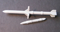 OzMods Scale Models HARM Missiles + launch rails 2 per pack Accessories 1:48