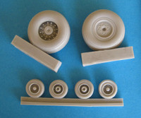 OzMods-Scaledown Set A F-111A, D, E, F, EF-111A wheels and tyres Accessories 1:48