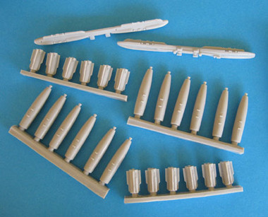 OzMods-Scaledown F-111 BRUs with 12 x Mk 82/BSU-49/B AIR bombs Accessories 1:48