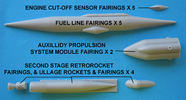 OzMods-Scaledown Saturn V Detail Set A External stage fairings etc Accessories 1:48
