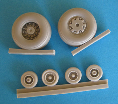 OzMods - Scaledown Set B F-111C, G, FB-111A wheels and tyres Accessories 1:48