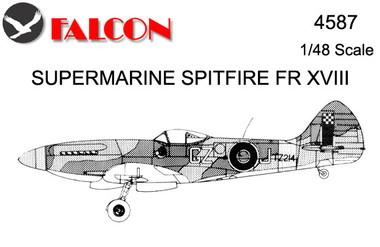 Falcon Supermarine Spitfire FR. Mk 18 Kit 1:48 (FIK04587)