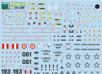 FCM Latin American Mirage 2000 Decals 1:72