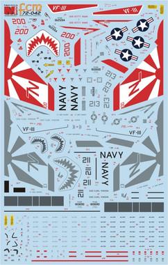 FCM 72 042 F-14A Tomcat - VF-111 Sundowners (part 2) decals