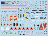 FCM Mirage III E/50 - Brazil, Venezuela & Egypt Decals 1:72