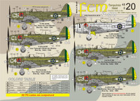 FCM Brazilian P-47 Thunderbolts Jambock Squadron Decals 1:48 (FCD048020)