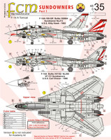 FCM F-14A Tomcat Sundowners Part 1 Decals 1:48