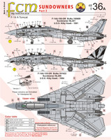 FCM F-14A Tomcat Sundowners Part 2 Decals 1:48