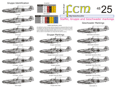 FCM Luftwaffe Staffel, Gruppe & Geschwader Markings Decals 1:48
