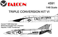 Falcon Triple Conversion VI: Delta Dart Phantom Thunderchief Kit 1:48 (FIK04591)