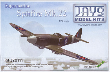 Jays Model Kits Ventura Supermarine Spitfire Mk 22 (Kit 1:72)