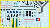 FCM Set 31: Grumman SA-16 Albatros - Brazil 2, Argentina & Chile Decals 1:144