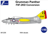 PJ Productions F9F-2KD Panther conversion + decals for Trumpeter kit Accessories 1:48