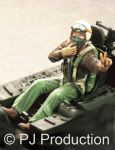 PJ Productions USAF fighter pilot seated in a/c Korean war Figures 1:48