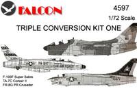 Falcon Triple Conversion I: Two-seat - Corsair II / F-100F / RF-8G Kit 1:72 (FIK04597)
