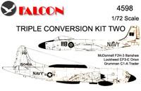 Falcon Triple Conversion II: F2H-3 / Grumman Trader / EP-3E Orion Kit 1:72 (FIK04598)