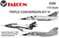 Falcon Triple Conversion III: Two-seat - F-106B / Mirage / Cougar Kit 1:72 (FIK04599)