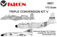 Falcon Triple Conversion V: F4H-1 canopy/nose / HC-130P / A-10B Kit 1:72 (FIK04601)