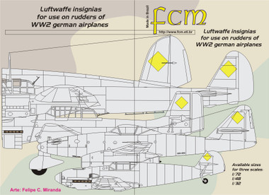 FCM Luftwaffe Swastikas Decals All Scales