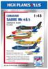 High Planes Canadair Sabre Mk 4 & Mk 5