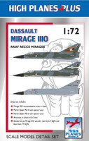 High Planes Plus Mirage IIIO Recce Detail Set Accessories 1:72