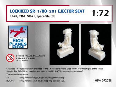 High Planes Lockheed SR-1/RQ-201 Ejector Sea suits U-2R, Tr-1, SR-71, Space Shuttle (Accessories 1:72)