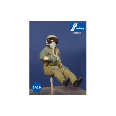 PJ Productions F-16/F-18 fighter pilot seated in aircraft Figures